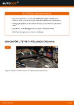 bak och fram Bromsskivor VW CADDY | PDF instruktioner för utbyte