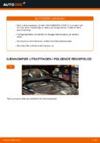 Hvordan bytte bakre bremseskiver på VOLKSWAGEN GOLF V