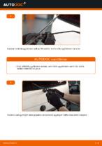 Kuinka vaihtaa taka pyyhkijänsulat VOLKSWAGEN TRANSPORTER T4 (70XB, 70XC, 7DB, 7DW) malliin.