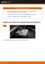 Menjava zadaj in spredaj Zavorne Ploščice CITROËN XSARA: spletni vodič