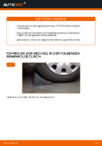 Wie Radlagersatz hinten rechts links beim TOYOTA RAV 4 II (CLA2_, XA2_, ZCA2_, ACA2_) wechseln - Handbuch online