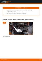 Hvordan man udskifter motorens luftfilter på VW Touran 1T1 1T2