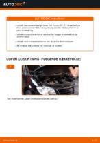 PDF udskiftnings manual: Bremseskiver VW bag og foran