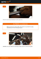 Step by step PDF-tutorial on Wiper Blades VW TOURAN (1T1, 1T2) replacement