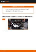 Changing Air Filter VW TOURAN: workshop manual