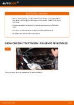 Hvordan bytte fremre bremseskiver på VW Touran 1T1 1T2