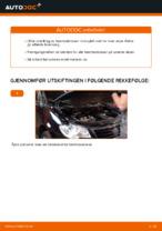 Hvordan skifte fremre bremseklosser på skivebrems på VW Touran 1T1 1T2