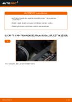 VW TOURAN (1T1, 1T2) Takajarrupalat ja etujarrupalat asennus - vaihe vaiheelta korjausohjeet