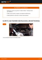 VW TOURAN Jarrupalat vaihto: ohjekirja