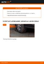 Kuidas asendada VW Touran 1T1 1T2 roolilati otsi