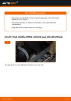 Kuidas vahetada tagumisi piduriklotse või pidurikettaid VW Touran 1T1 1T2
