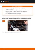 Kuidas vahetada esimesi piduriklotse või pidurikettaid autol VW Touran 1T1 1T2
