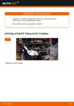 Instrukcijos PDF apie TOURAN priežiūrą