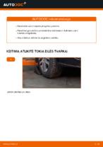 Kaip pakeisti vairo traukės antgalius automobiliui VW Touran 1T1 1T2
