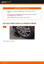 Mudar Tirante da Barra Estabilizadora VW TOURAN: manual técnico