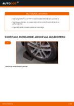 VW TOURAN Stabilisaatori otsavarras vahetus: tasuta pdf