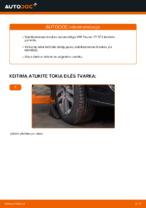 Kaip pakeisti priekinės pakabos stabilizatoriaus traukę VW Touran 1T1 1T2