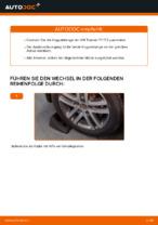 Koppelstange auswechseln VW TOURAN: Werkstatthandbuch