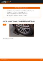 Hvordan bageste forbindelsesstang på VW Touran 1T1 1T2 udskiftes