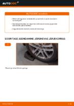 Asendamine Vedrustus VW TOURAN: käsiraamatute