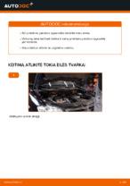 Kaip pakeisti priekinės pakabos spyruokles VW Touran 1T1 1T2