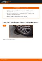 Changing Shock Absorber VW TOURAN: workshop manual