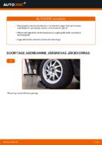 Kuidas asendada tagumist amortisaatori kinnitust autol Ford Focus 2 DA
