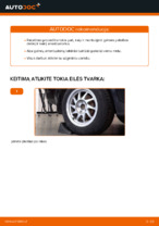 Kaip pakeisti galinės pakabos amortizatoriaus atramą Ford Focus 2 DA