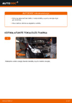 Kaip pakeisti galinį stabdžių suportą VW Touran 1T1 1T2