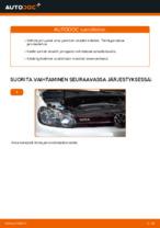 Kuinka vaihtaa ja säätää Jarrupalasarja VW GOLF: pdf-opas