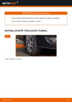 Kaip pakeisti priekinės nepriklausomos pakabos apatinę svirtį VW Touran 1T1 1T2