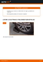 Hvordan man udskifter den øvre arm i bag på en uafhængig affjedring på VW Touran 1T1 1T2