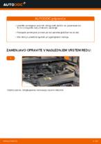 Menjava zadaj in spredaj Zavorne Ploščice FORD FOCUS: spletni vodič