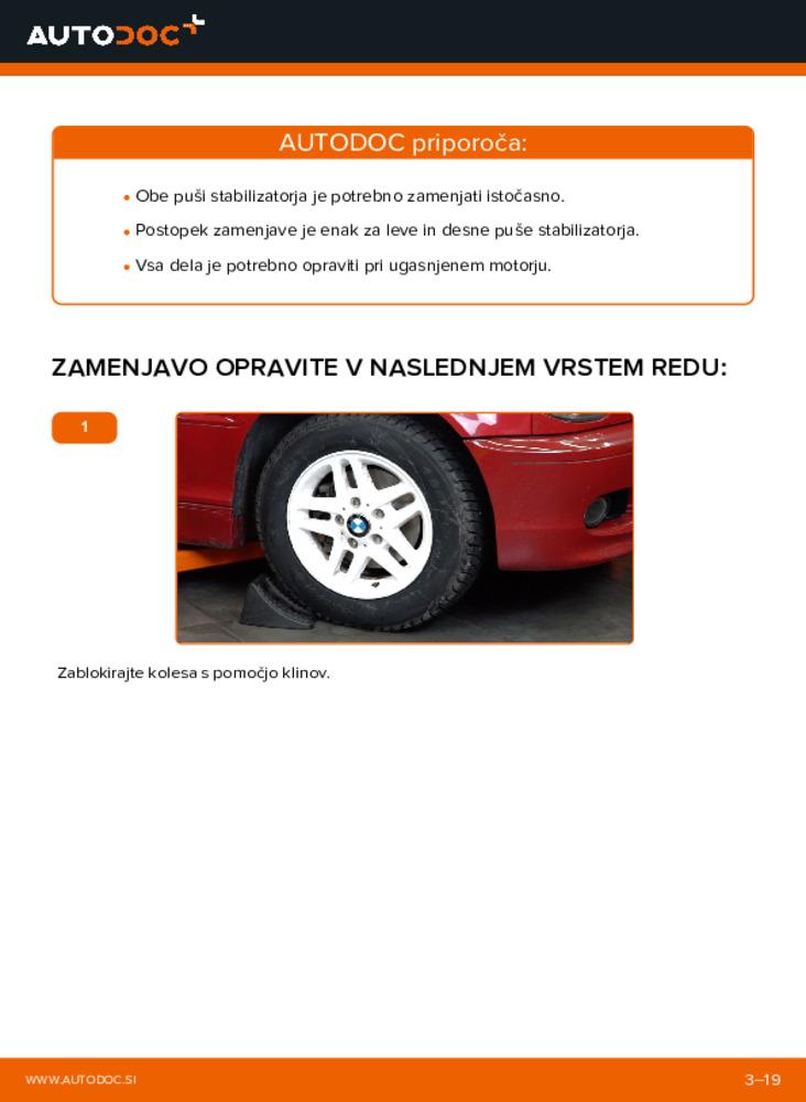 Kako izvesti menjavo: Gumice Stabilizatorja na 330Ci 3.0 BMW 3 Convertible (E46)