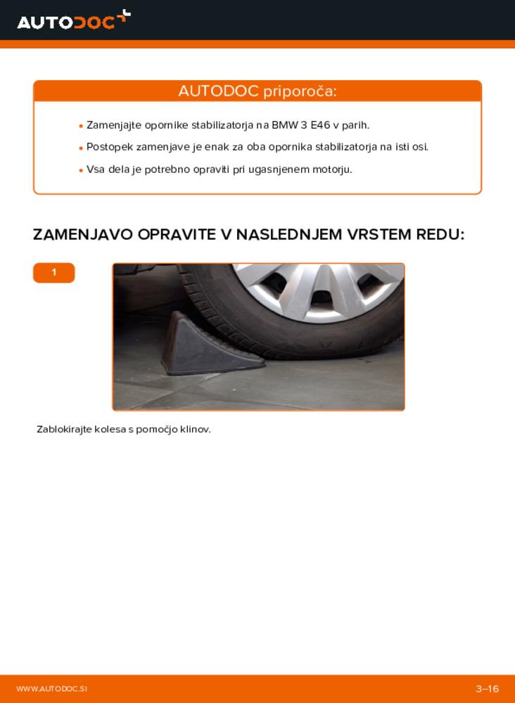 Kako izvesti menjavo: Koncnik na 320d 2.0 BMW E46