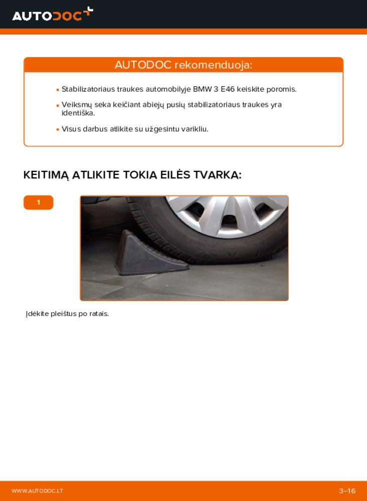 Kaip atlikti keitimą: 320d 2.0 BMW E46 Pasukimo trauklė