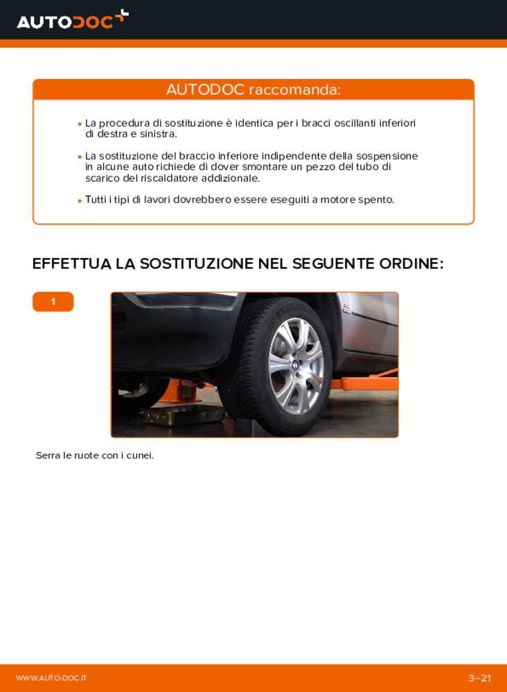 Come effettuare una sostituzione di Braccio Oscillante su 3.0 d BMW E53