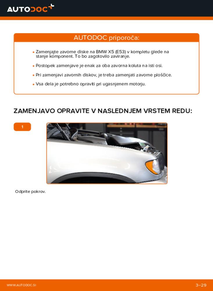 Kako izvesti menjavo: Zavorni kolut na 3.0 d BMW E53