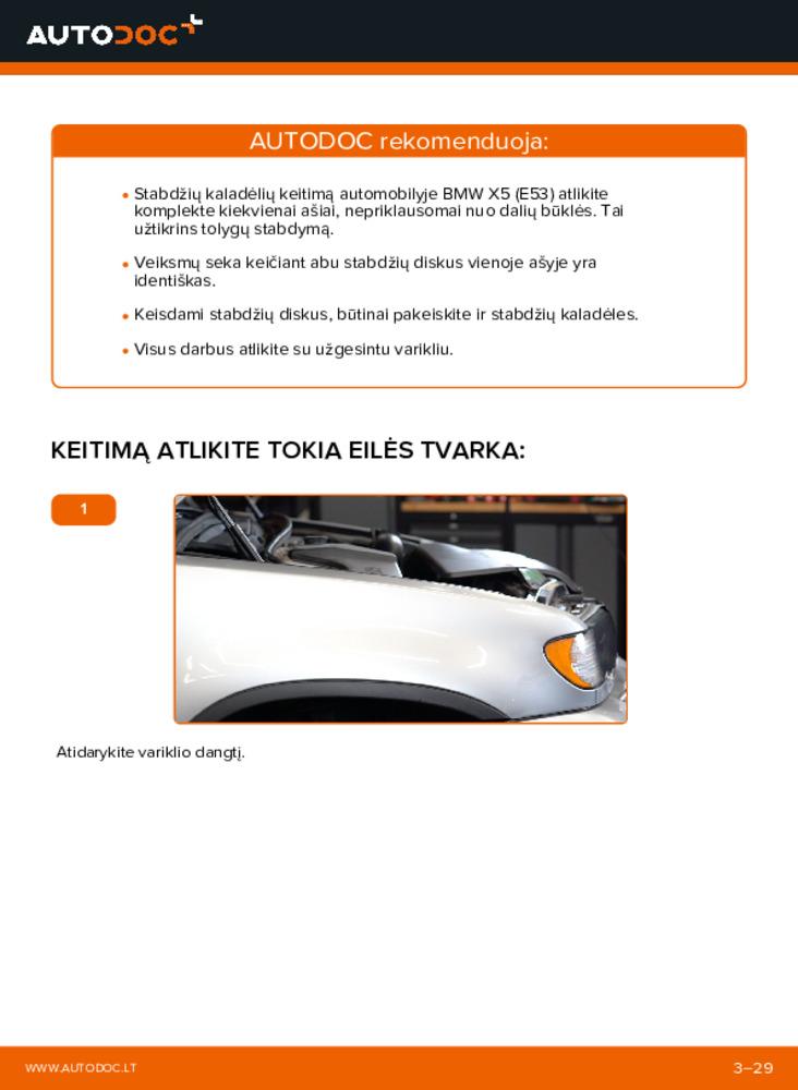 Kaip atlikti keitimą: 3.0 d BMW E53 Stabdžių diskas