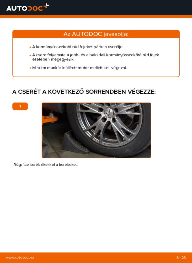 Hogyan végezze a cserét: 1.9 TDI Audi A4 B6 Avant Vezetőkar fej