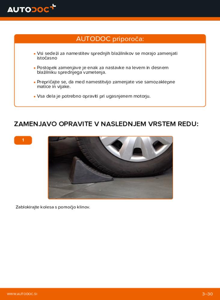 Kako izvesti menjavo: Ležaj Amortizerja na 2.0 D 4WD (CLA20_, CLA21_) Toyota Rav4 II