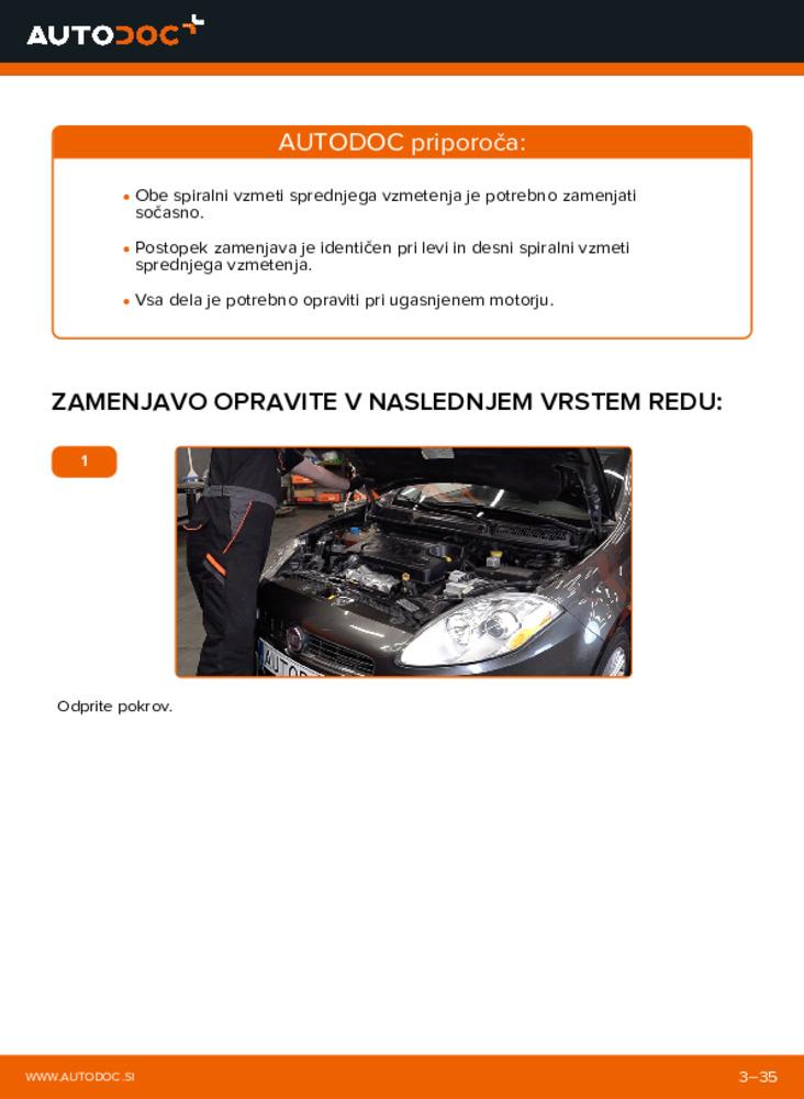 Kako izvesti menjavo: Vzmetenje na 1.9 D Multijet FIAT BRAVO II (198)