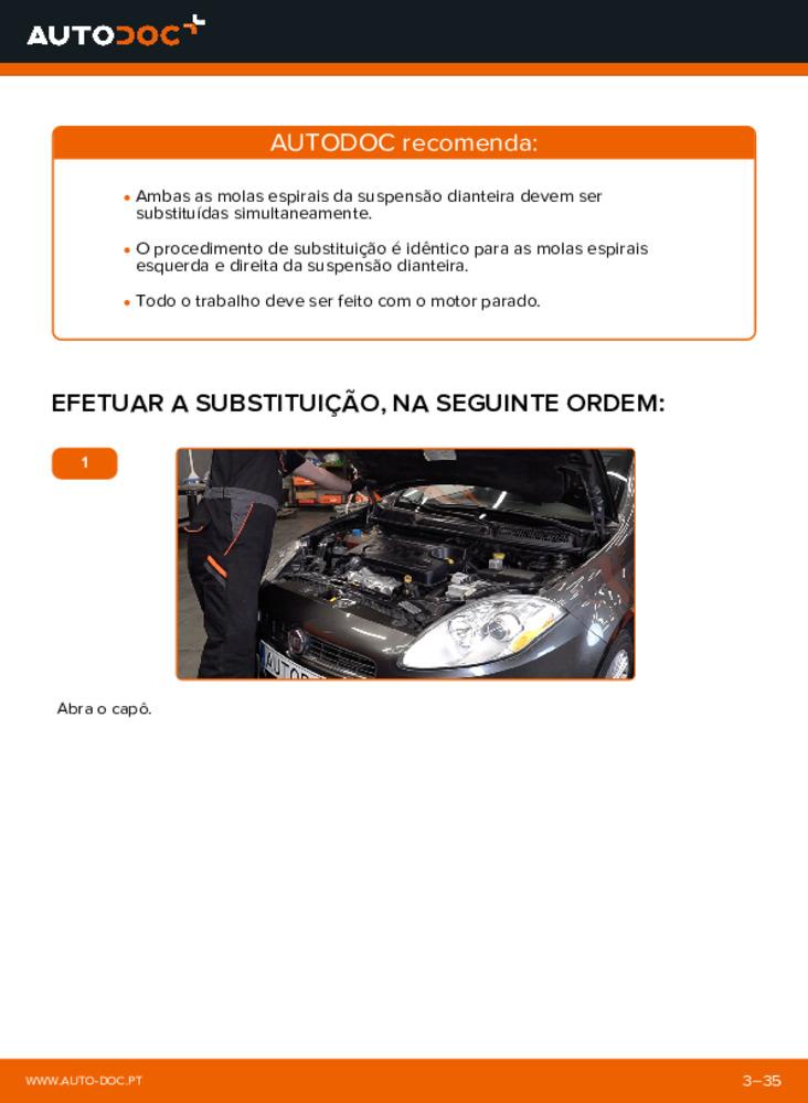 Como realizar a substituição de Molas no 1.9 D Multijet FIAT BRAVO II (198)