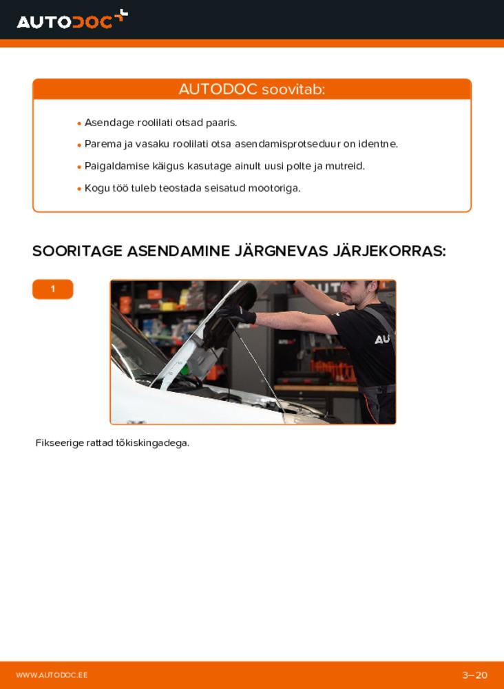 Kuidas välja vahetamist läbi viia: 1.9 JTD Fiat Doblo Cargo Roolivardapea