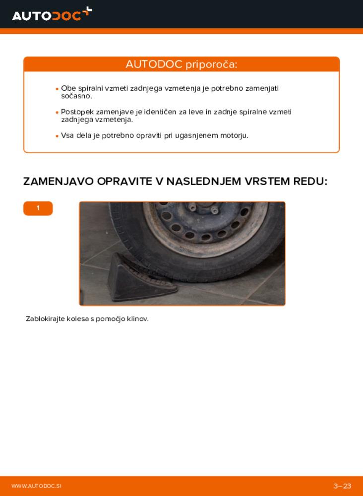 Kako izvesti menjavo: Vlezajenje motorja na 1.2 Renault Clio 2