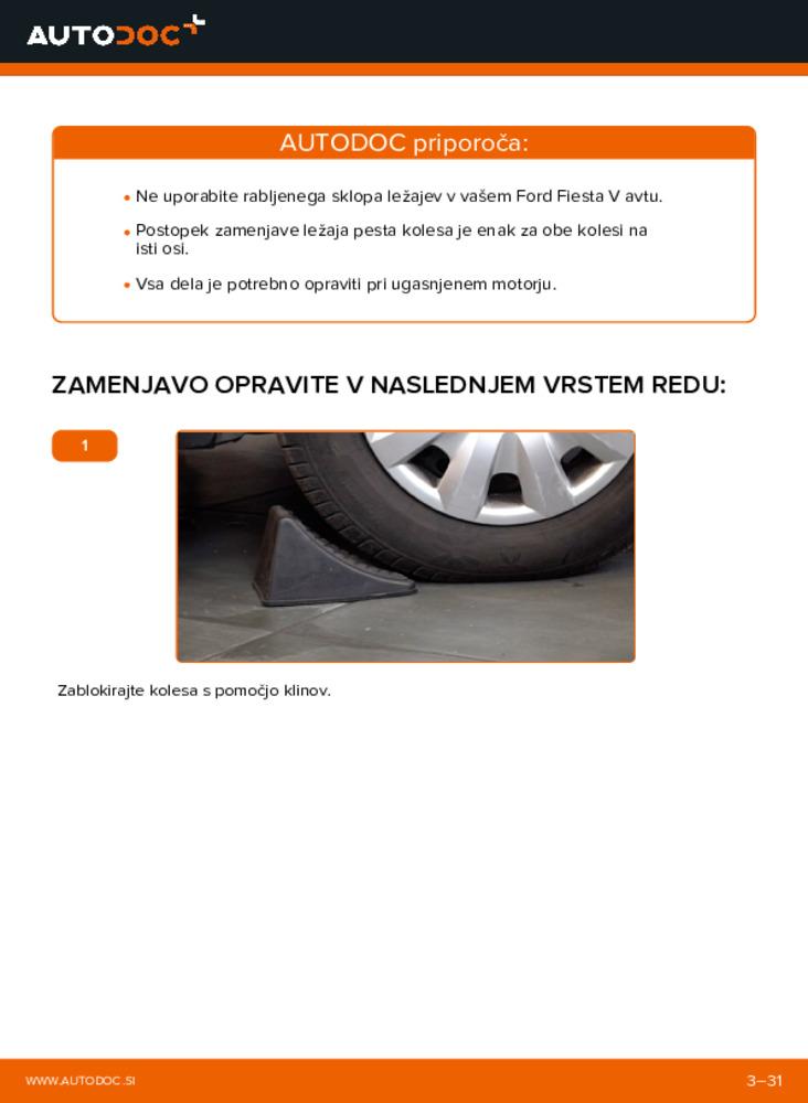 Kako izvesti menjavo: Kolesni lezaj na 1.4 TDCi Ford Fiesta V jh jd