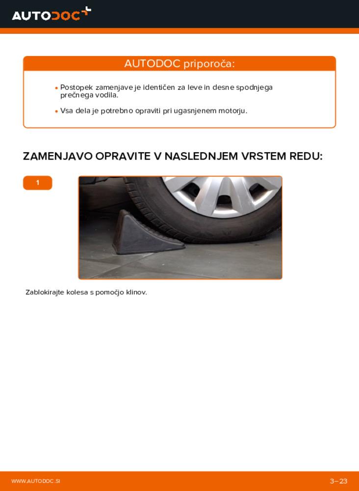 Kako izvesti menjavo: Roka na 1.4 TDCi Ford Fiesta V jh jd