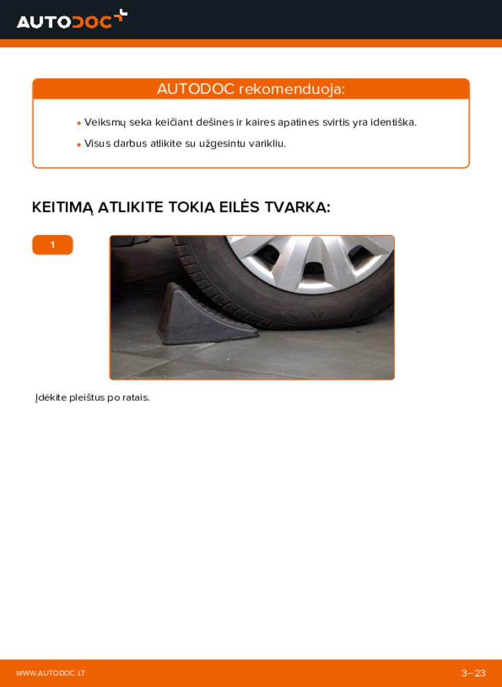 Kaip atlikti keitimą: 1.4 TDCi Ford Fiesta V jh jd Vikšro Valdymo Svirtis