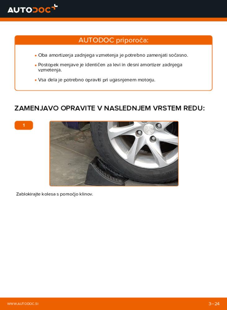 Kako izvesti menjavo: Blazilnik na 1.4 HDi Peugeot 208 1