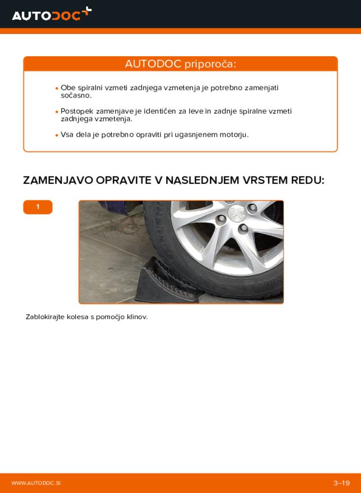 Kako izvesti menjavo: Vzmetenje na 1.4 HDi Peugeot 208 1